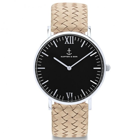 UHR CAMPUS BLACK SILVER, SAND WOVEN