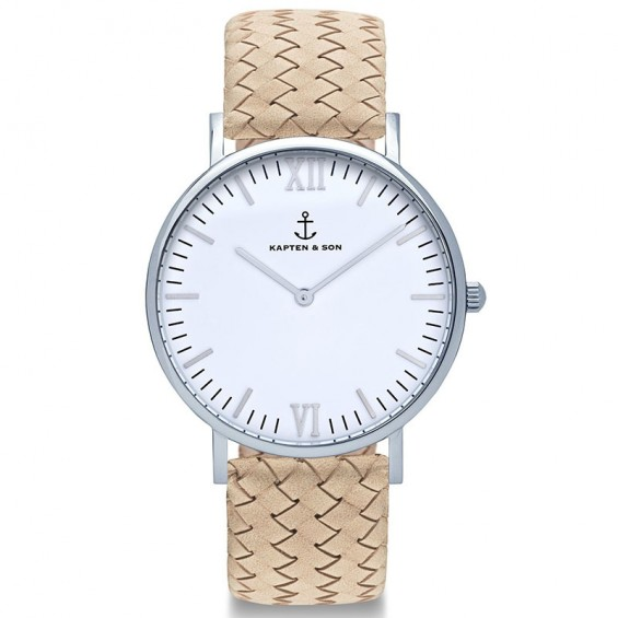 UHR CAMPUS WHITE SILVER, SAND WOVEN